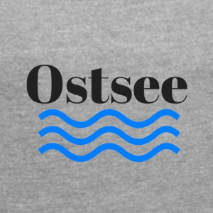Baltic transparent - Dame T-shirt med rulleærmer