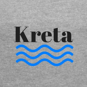 Crete shaft - Women's T-shirt with rolled up sleeves