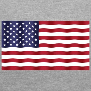 United States Flag - Women's T-shirt with rolled up sleeves