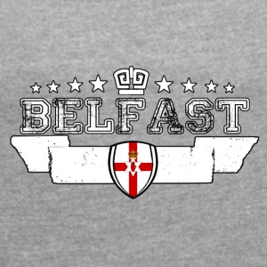 Belfast - Women's T-shirt with rolled up sleeves