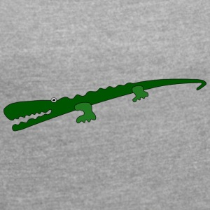 evil crocodile - Women's T-shirt with rolled up sleeves