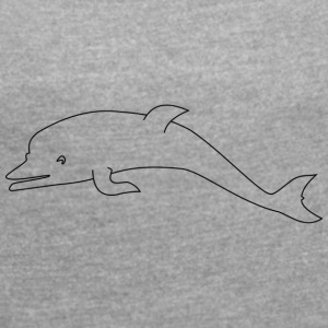Sweet dolphin - Women's T-shirt with rolled up sleeves