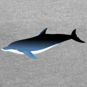Dolphin blue - Women's T-shirt with rolled up sleeves
