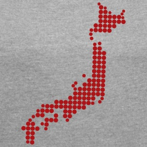 mapa_de_japon - Women's T-shirt with rolled up sleeves