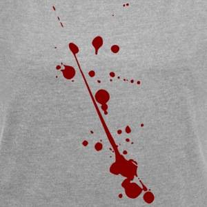 Blood spots - Women's T-shirt with rolled up sleeves