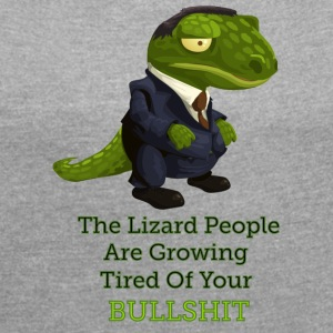 Lizard People - Women's T-shirt with rolled up sleeves