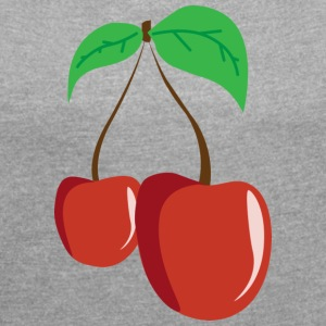 Cherry Love - Women's T-shirt with rolled up sleeves