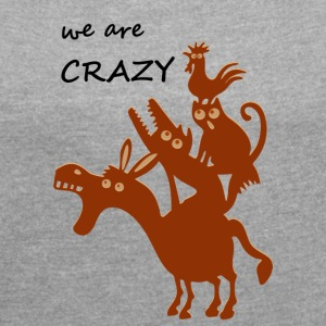 The crazy Bremen city musicians - Women's T-shirt with rolled up sleeves