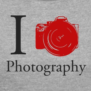 I Love Photography Collection - Dame T-shirt med rulleærmer