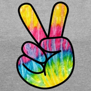 Peace Psycho - Women's T-shirt with rolled up sleeves