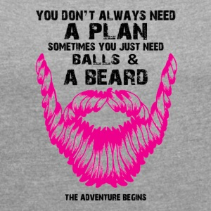 BEARD - Women's T-shirt with rolled up sleeves