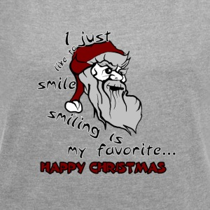 Sad Santa - Women's T-shirt with rolled up sleeves