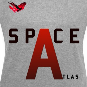 Space Atlas Baseball Long Sleeve Capital A - Women's T-shirt with rolled up sleeves