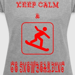GO_SNOWBOARD - Women's T-shirt with rolled up sleeves
