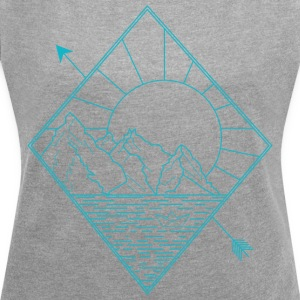 Alaska blue - Women's T-shirt with rolled up sleeves