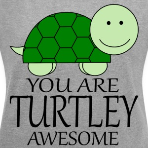 You_Are_Turtley_Awesome - T-shirt med upprullade ärmar dam