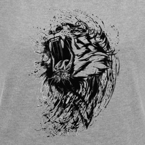 BAD TIGER COLLECTION - Vrouwen T-shirt met opgerolde mouwen