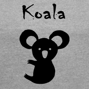 Koala bear - Women's T-shirt with rolled up sleeves