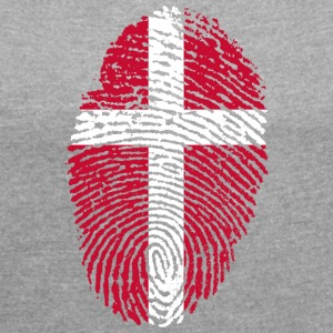 DENMARK 4 EVER COLLECTION - Women's T-shirt with rolled up sleeves