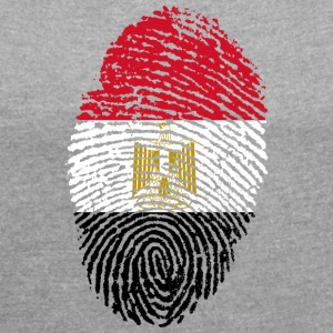 IN LOVE WITH EGYPT - Frauen T-Shirt mit gerollten Ärmeln