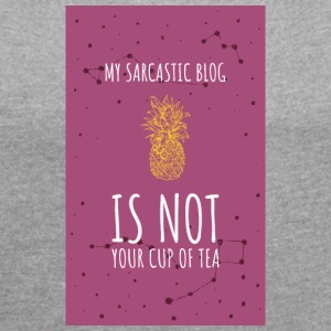 My Sarcastic Blog3 - Women's T-shirt with rolled up sleeves