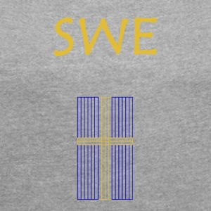 Sweden Gold Line - Women's T-shirt with rolled up sleeves