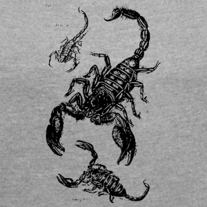 Scorpion Mum and Kids - Women's T-shirt with rolled up sleeves