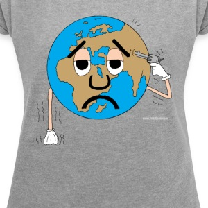 Suicidal world world - Women's T-shirt with rolled up sleeves