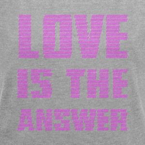 LOVE IS THE ANSWER - Women's T-shirt with rolled up sleeves