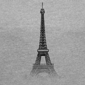 Around The World: Eiffeltornet - Paris - T-shirt med upprullade ärmar dam