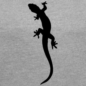 lizard - Women's T-shirt with rolled up sleeves