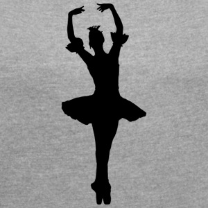 ballerina - Women's T-shirt with rolled up sleeves