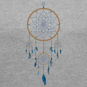 Culture Dream catcher - Frauen T-Shirt mit gerollten Ärmeln