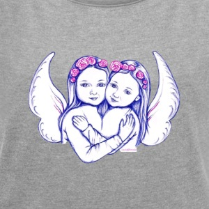 Wear your angel and follow the instructions! - Women's T-shirt with rolled up sleeves