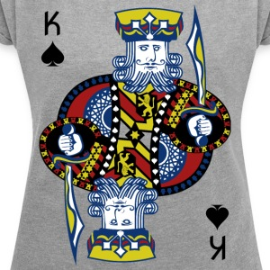 King of Spades Poker Hold'em - Women's T-shirt with rolled up sleeves