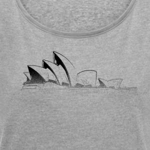 Around The World: Opera House - Sydney - Vrouwen T-shirt met opgerolde mouwen