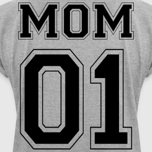 MOM 01 - Black Edition - T-shirt med upprullade ärmar dam