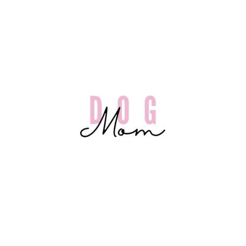 Pink Dog Mom - T-skjorte med rulleermer for kvinner