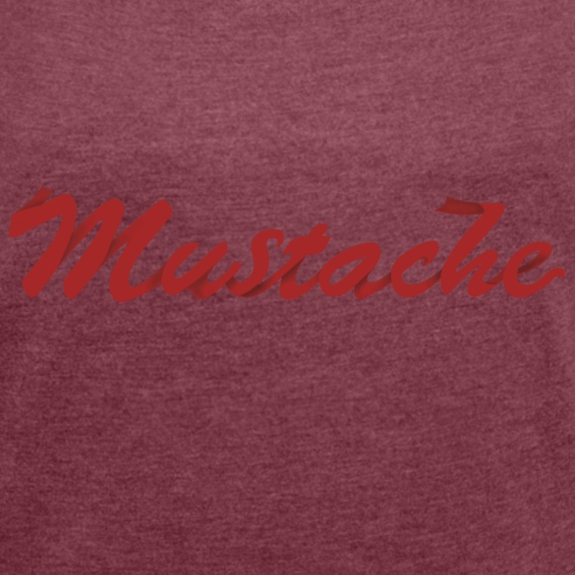 Red Mustache Lettering