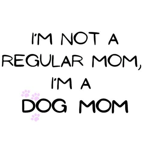 I´m not a regular mom, I´m a dog mom - T-skjorte med rulleermer for kvinner