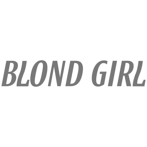 Blond Girl - Frauen T-Shirt mit gerollten Ärmeln