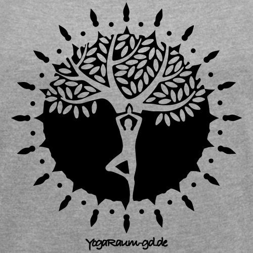 YR Mandala - Frauen T-Shirt mit gerollten Ärmeln