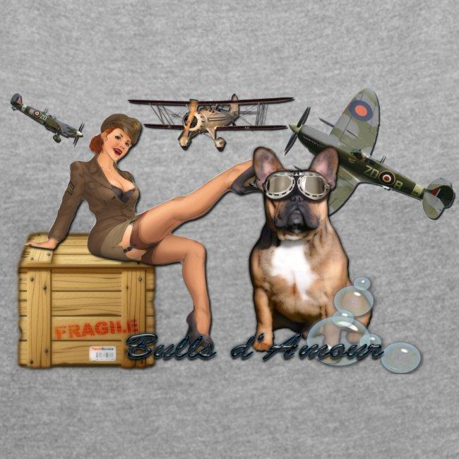 Pin Up army bulldog