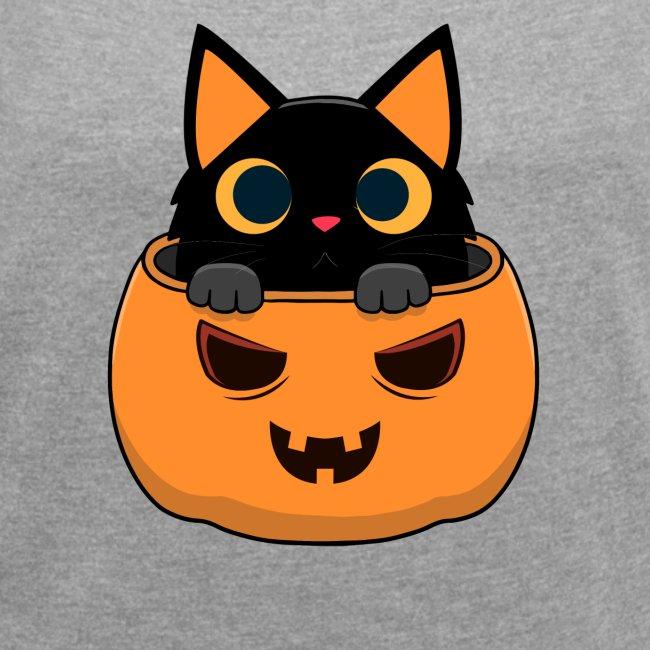 Halloween Katze Kürbis