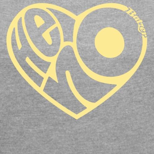 Batzer Salland series Heino hart - Vrouwen T-shirt met opgerolde mouwen