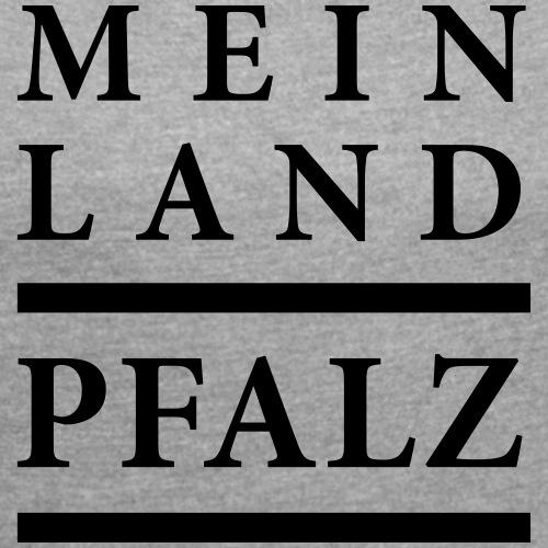 logo mlpfalz 201908 - Frauen T-Shirt mit gerollten Ärmeln