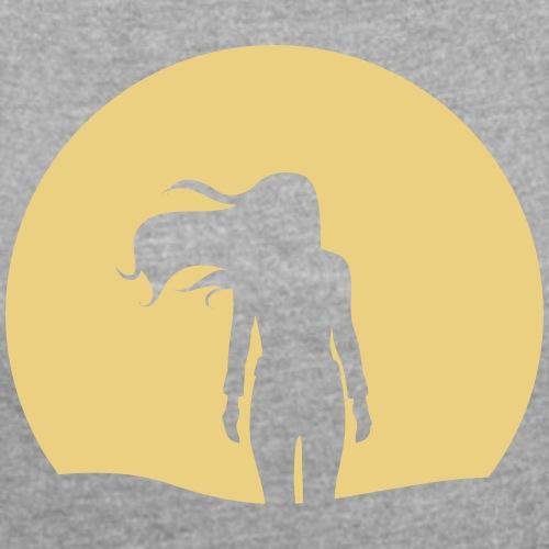 NACHTSONNE Nova - Frauen T-Shirt mit gerollten Ärmeln