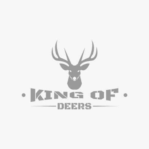 König der Hirsche eleganter Hirsch schlicht - Frauen T-Shirt mit gerollten Ärmeln