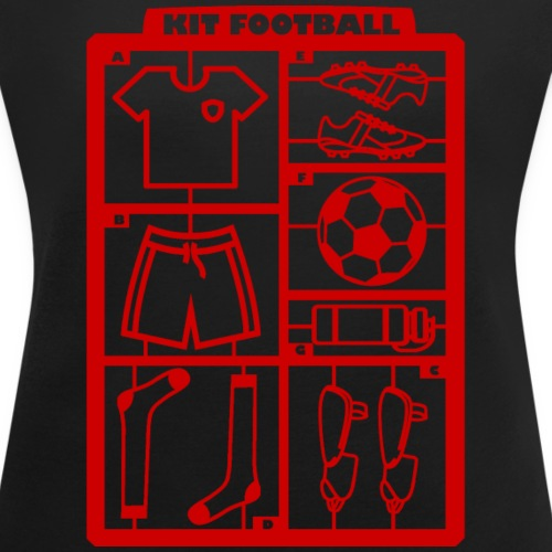 Kit foot (rouge) - T-shirt à manches retroussées Femme