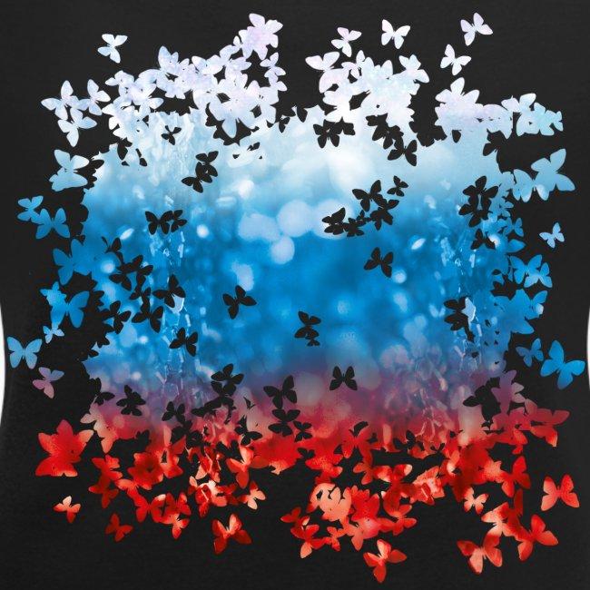 06 Russland Flagge Fahne Russia Schmetterlinge